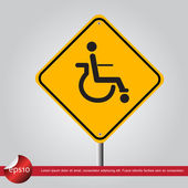 Disable in traffic sign vector icon — Stok Vektör