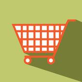 Shopping cart vector icon — Stock Vector