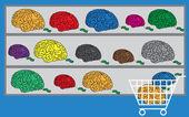Shopping brain vector — Stock Vector