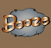 Text comic  booze — Stock Vector
