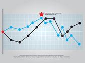 Line graph vector — Stock Vector