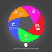 Education concept circle vector icon — Vector de stock