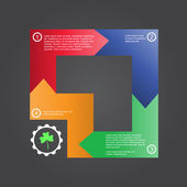 Business concept icon presentation with text — Vector de stock
