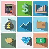 Finance icon set illustration eps10 — Stock Vector