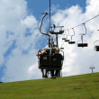 Chair lift in the Alps — Stock Photo
