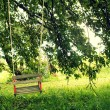 Wooden swing for children — Stock Photo #30515691