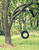 Tire swings for children — Stock Photo
