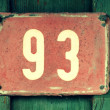 Old signs - house number — Stock Photo