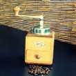 Stock Photo: Coffee grinder and coffee beans