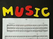 Skriva musik — Stockfoto