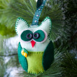 Christmas tree, owl, gloves, Christmas boots — Stock Photo