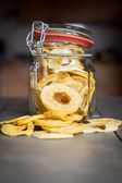 Dried Apple Rings in a Jar — Stock Photo