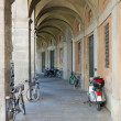 Stock Photo: Arcades with Bicycles in Lucca,Tuscany, Italy