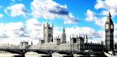Westminster Bridge & Houses of Parliament — Foto de Stock