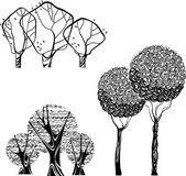Vector stok set of trees isolated — Stock Vector