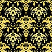 Vector illustration golden royal pattern — Stock Vector