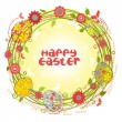 Vector Easter cards floral wreath — Stock Vector
