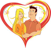 Vector illustration valentines with people — Stock Vector