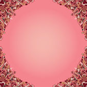Vector illustration background with hearts — Vector de stock
