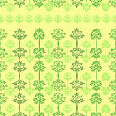 Vector seamless pattern with trees yellow — Stock Vector