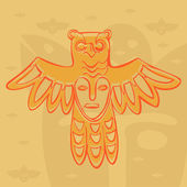 Vector Permian bronze gods — Stock Vector