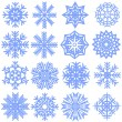 Stock Vector: Collection of snowflakes. Vector