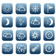 Set of weather icons — Stock Vector