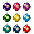 Set of Christmas balls on white background — Stock Vector