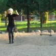 Stock Video: Blond Womin Park
