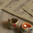 Music notes and Candles — Stock Video #29886003