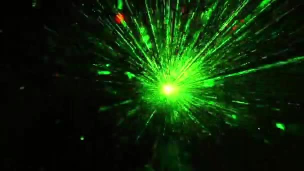 Luces de discoteca láser — Vídeo de stock
