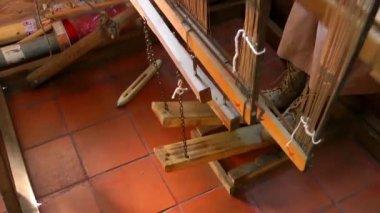 Spun Silk Machine — Stock Video