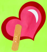 Heart Shape and Band-Aid — Stock Photo
