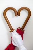 Heart Shape with Umbrellas — Stock Photo