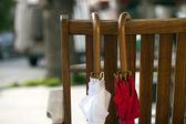 Red and White Umbrella — Stock Photo