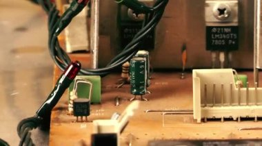 Motherboard Electronic hardware technology — Stock Video