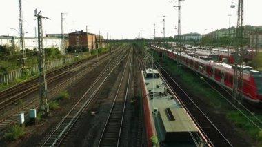 La stazione ferroviaria — Video Stock