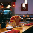 Interior of a restaurant, modern design in few colors — ストック写真
