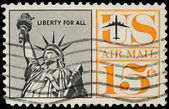 United Stated Of America. Airmail stamp depicting Liberty Enlig — Stock Photo