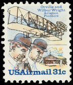 United Stated Of America. Airmail stamp depicting Orville and W — Stock Photo
