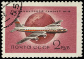 USSR - CIRCA 1958: A Stamp Printed in USSR Shows the Airplane Il — Stock Photo