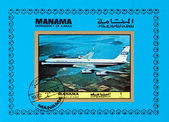 Manama Dependency of Ajman - CIRCA 1972: A stamp printed in Mana — Stock Photo