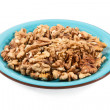 Stock Photo: Walnut kernel in bowl