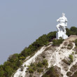 Stock Photo: Monument on chalky mountain in Sviatogorsk