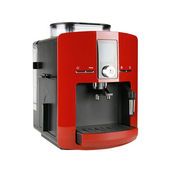 Red espresso machine — Stock Photo