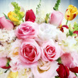 Bouquets of beautiful flowers — Stock Photo