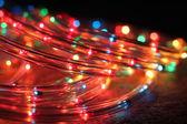 Christmas garland Christmas lights — Stock Photo
