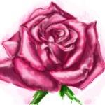 Purple rose vector Пурпурная векторная роза — Stock vektor