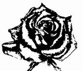 Graphics monochromatic roses Клипарт однотонной розы — Stock Vector