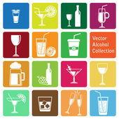 Vector collection: alcohol icons — Stock Vector